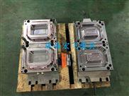 一次性快餐盒模具1出2方盒 精密高速薄壁PP注塑塑料模具