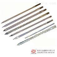 PVC挤出机螺杆,耐磨?#36879;?#28201;双合金材质