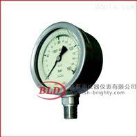 布莱迪/充油耐震压力表/径向钢内充液