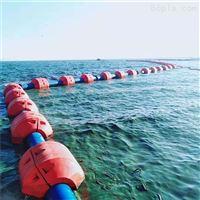 FT1000*1000*335海上夹管塑料浮筒高强度聚乙烯浮体颜色