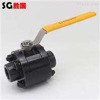 胜国供应碳钢三片式球阀 手动高压焊接球阀
