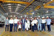 中國塑機協會常務副會長粟東平參觀考察伊之密印度工廠