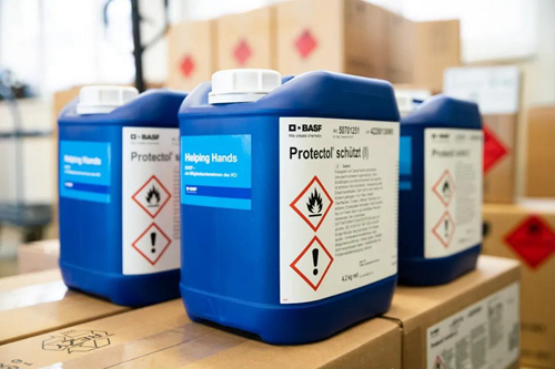 巴斯夫个人护理品业务部欧洲各生产基地捐赠免洗洗手液